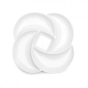 Large Clover White Melamine Serving Platter