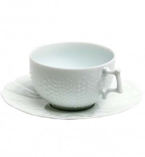 Corail White Tea Cup and Saucer