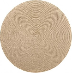 Round Placemat in Cream Dust