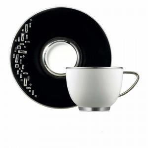 Diana Black Tea Cup and Saucer