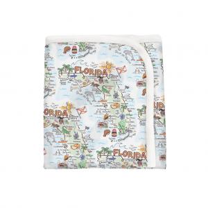 Florida Map Baby Blanket