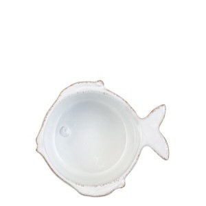 Lastra Fish Condiment Bowl White