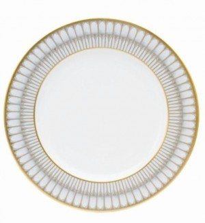 Arcades Grey and Gold Dinner Plate
