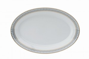 Arcades Grey and Gold Oval Platter