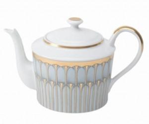 Arcades Grey and Gold Tea Pot