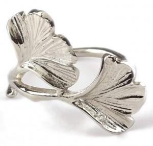 GInko Silver Napkin Ring