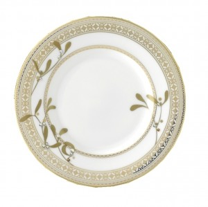 Golden Leaves Bread and Butter Plate
