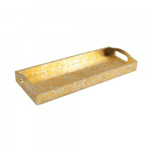 Gold & Silver Leaf Lacquer Bar Tray