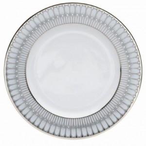 Arcades Grey and Platinum Dinner Plate
