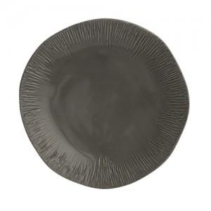 Graffiata Grey Dinner Plate
