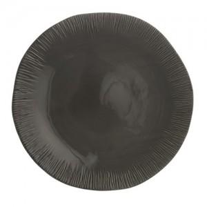 Graffiata Grey Round Platter