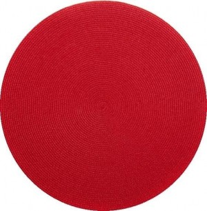 Round Placemat in Holiday Red