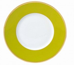 Les Indiennes Presentation Plate Anis Green