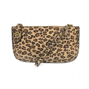 Natural Leopard Crossbody/Wristlet/Clutch