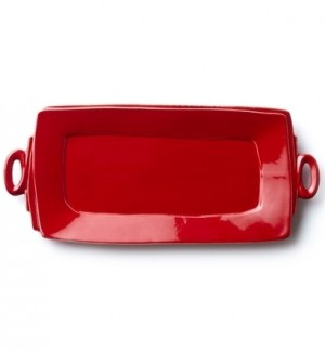 Lastra Red Handled Rectangular Platter