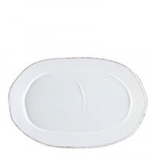 Lastra White Oval Tray
