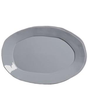 Lastra Gray Oval Platter