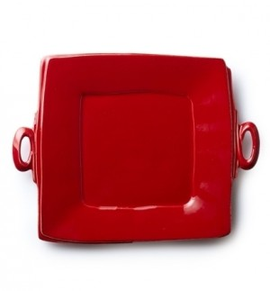 Lastra Red Handled Square Platter