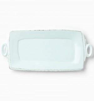 Lastra Aqua Handled Rectangular Platter