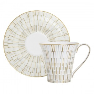 Luminous Gold Tea Cup & Saucer