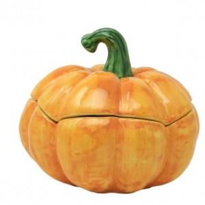 Pumpkins Figural Covered Medium Pumpkin