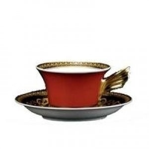 Medusa Red Tea Cup and Saucer