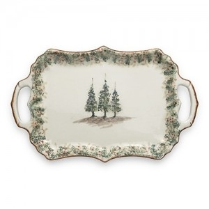 Natale Rectangular Tray with Handles
