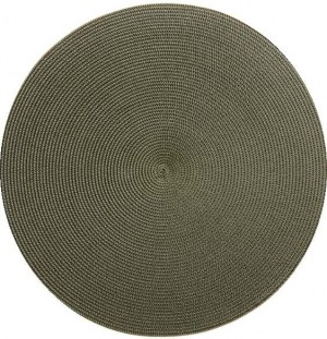 Round Placemat in Olive