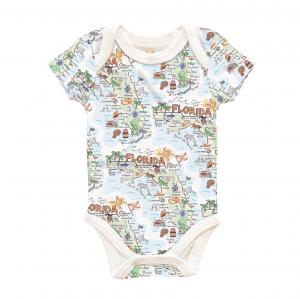 Florida Map Baby Onsie