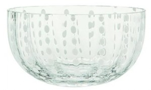 Perle Clear Large Serving Bowl