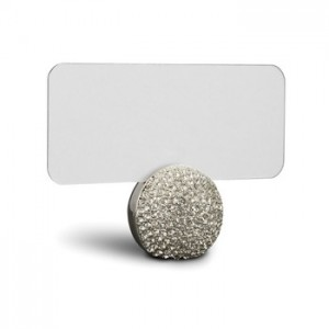 Silver Sphere Place Card Holders Set/6