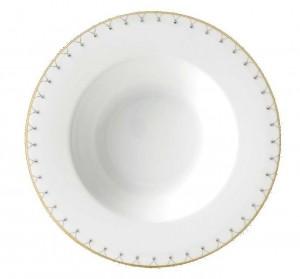 Princess Gold Rim Soup Plate