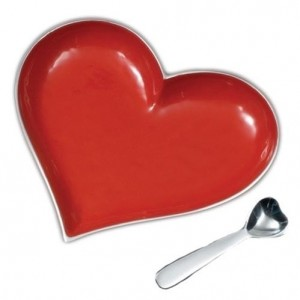 Heart Dish with Spoon