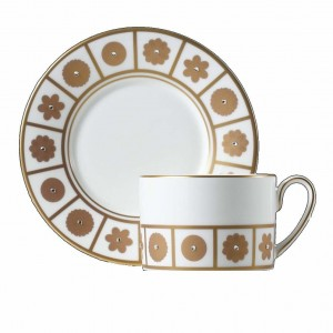 Rich White Tea Cup and Saucer