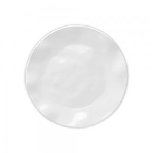 Ruffle White Round Salad Plate