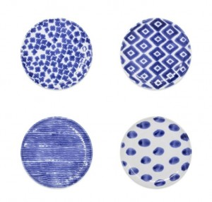 Santorini Assorted Canape Plates Set/4