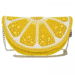 Tart Beaded Lemon Crossbody Handbag