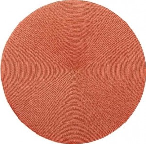 Round Placemat in Terracotta