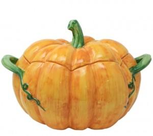 Pumpkins Figural Pumpkin Tureen with Handles