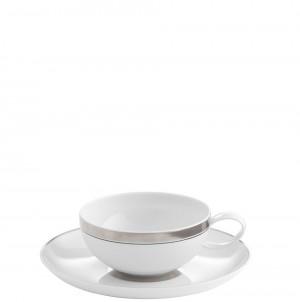 Domo Platinum Tea Cup and Saucer