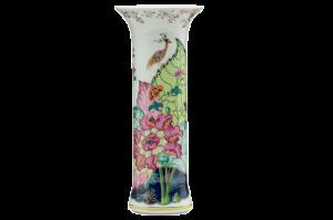 Tobacco Leaf Trumpet Vase